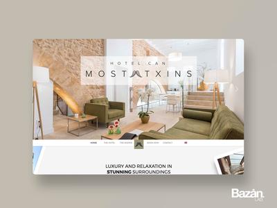 Hotel Can Mostatxins ux spain design interiorism architecture hotel web
