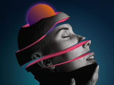 Experimental Soul neon colors 3d contemporaryart glitch flow future
