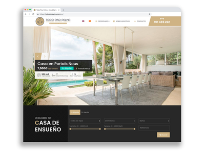 TodoPisoPalma real estate web Design identity design corporate web web design real estate