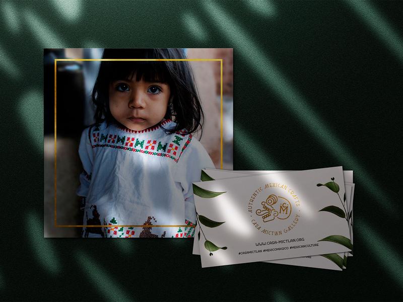 Casa Mictlan logo design handcraft art mexican mexico photography identitydesign huichol artisans designer fairtrade logo design