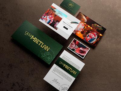 Casa Mictlan Identity logo design logo product huichol identity design gold products handcraft fairtrade culture mexican mexico branding identity branding identity