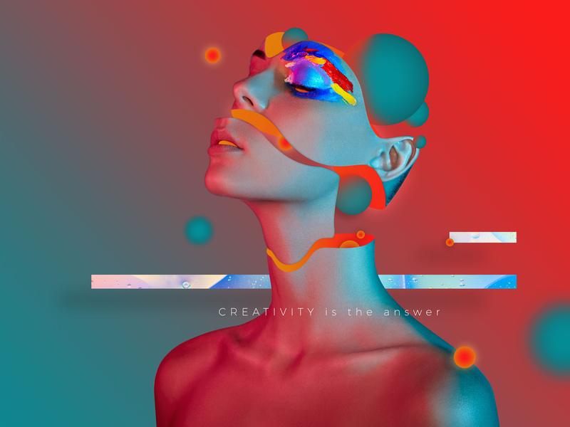 Creativitynew digital dribbble art direction colors edition digitalart cyberpunk photoshop glitch art contemporaryart creativity flow experimental design