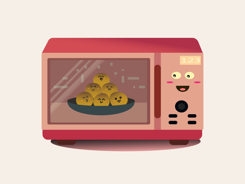 Cute Microwave mbe face cute flatillustration flat vector pixel digitalart artwork art illustration microwave