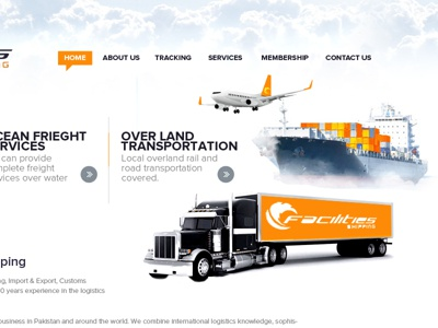 Shipping Web Design travel web design