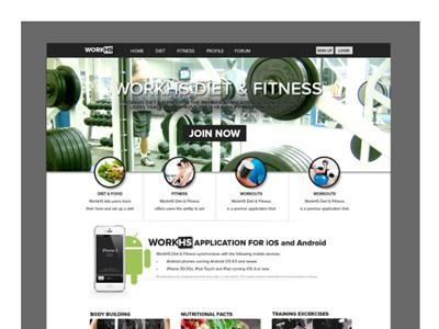 Fitness/Gym Website gym fitness web design