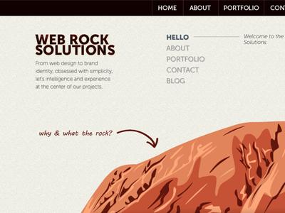 Webrock Solutions rock onepage
