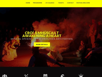 Festival Site black yellow festival event