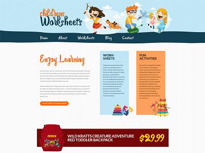 Childrens Worksheets creative light fun children kids