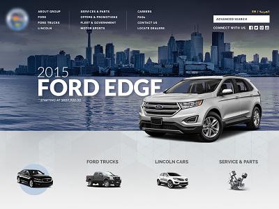 Car Dealer long navigation ford out of the box franchise dealer car