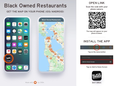 Black Owned Restaurants mobile app instructional design