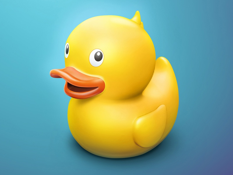 Rubber Duck yellow cute realistic rendering 3dcoat modeling plastic 3d illustration bath duck