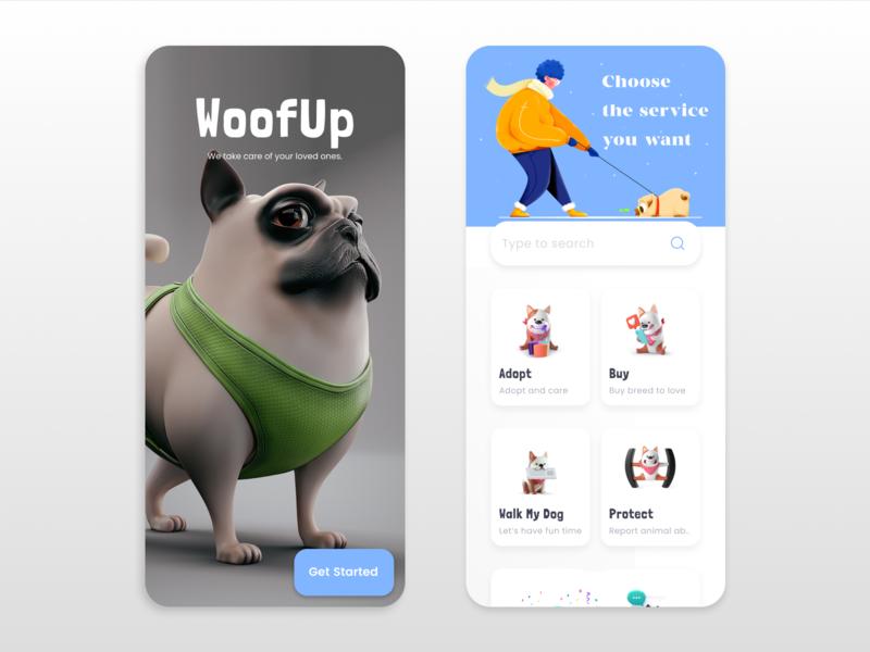 WoofUp   Pet Care App