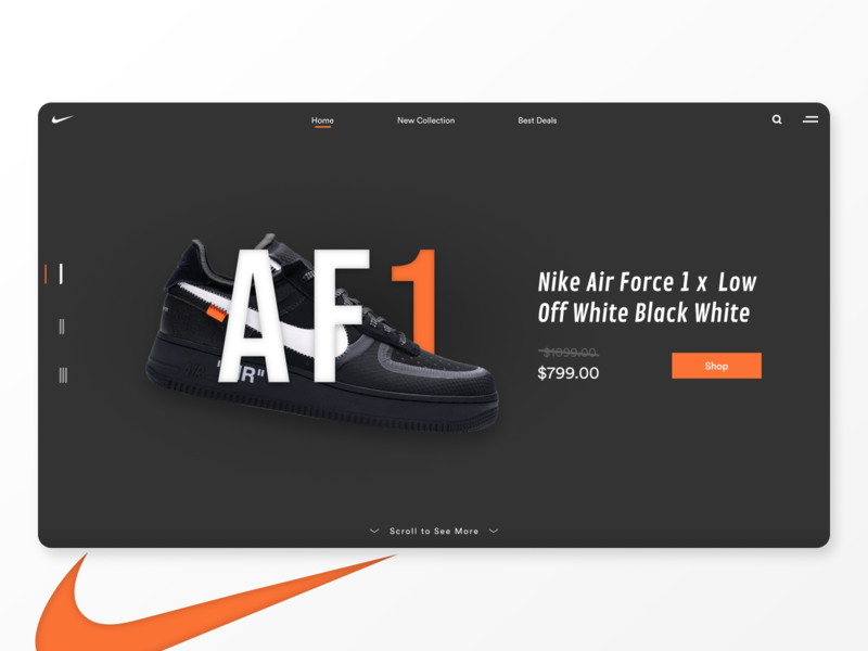 Sneakers Webdesign Concept