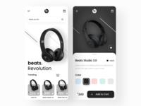 Beats by Dre App UI ui design clean mobile application design popular trend apple beats by dre beats music uxdesign ux ui application ui app design application app