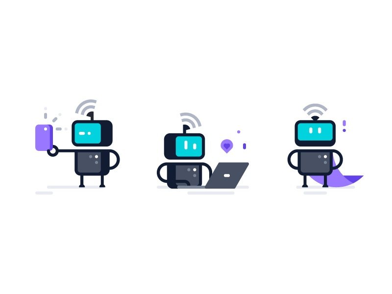 Poser Robots By Matthieu Souteyrand Dribbble Dribbble