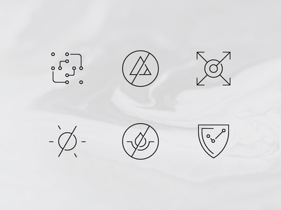 Chemistry icons chemistry icons vector outline minimal lines illustration shapes geometry chemistry icons icon