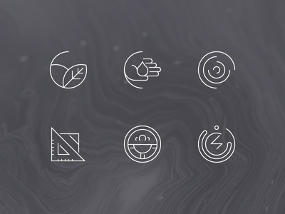 Chemistry icons - Set 2 icon icons chemistry geometry shapes illustration lines minimal outline vector chemistry icons