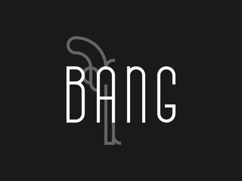 Bang logo western bang gun black branding identity logo minimal lines geometric geometric logo