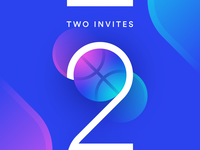 2 Dribbble invites giveaway 🏀 dribbble dribbble invitation dribbble invite invites basketball basket two 2 blue minimal gradient geometry illustration vector
