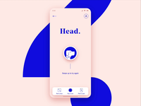 Head or tail? / InVision Studio head or tail decision coin flip vector flip illustration tail head coin ui motion ios mobile invision studio animation