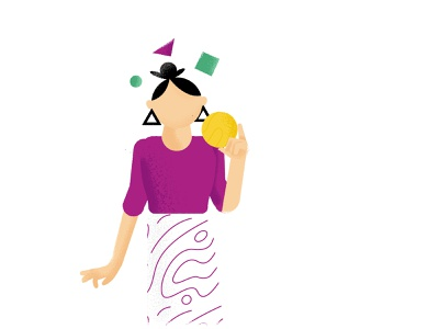 Thoughts lady thought shapes analyse thoughts girl woman illustration character design character