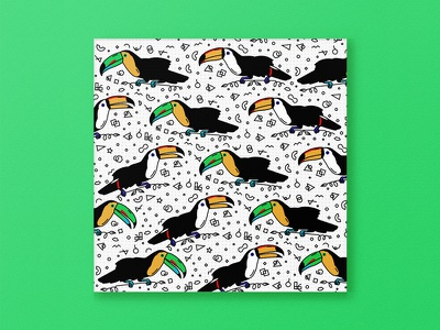 Toucan Club greeting card birds pattern tropical bird toucans toucan