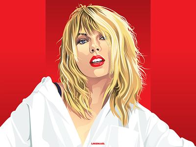 Taylor Swift Portrait portrait illustration portrait art portrait red lover singer taylor taylor swift design adobe illustrator vector illustration