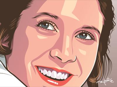 Princess Leia design illustration vector lucasfilm empire sith jedi star trek star wars leia