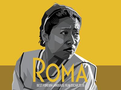 Roma illustration vector oscar film movie roma