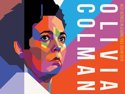 Olivia Colman olivia favourite design adobe illustrator vector illustration film movie oscar