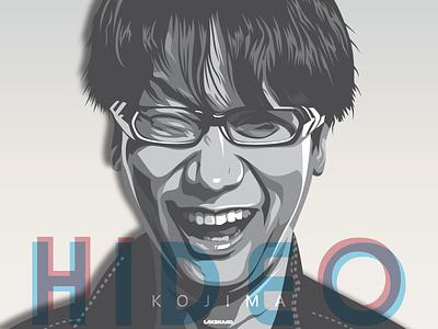 Hideo Kojima adobe illustrator illustration vector japan playstation nintendo konami kojima hideo hideo kojima game mgsv metal gear solid