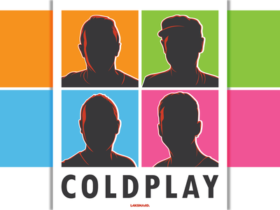 Coldplay Silhouette design adobe illustrator vector illustration silhouette fix you rock chris martin cold play coldplay