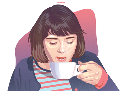 Coffee Morning painting isomatric flat  design mocca cup of coffee kopi coffee bar coffee design adobe illustrator vector illustration