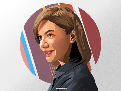 Najwa Shihab news tv-show journalist journalism branding design vector adobe illustrator illustration