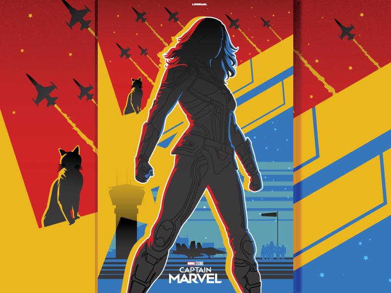 Captain Marvel mcu marvel cinematic universe marvel comics marvel film movie design adobe illustrator vector illustration