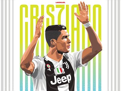 Cristiano Ronaldo football vector portrait vector artwork adobe illustrator vector illustration champions league juventus cristiano ronaldo cr7 ronaldo