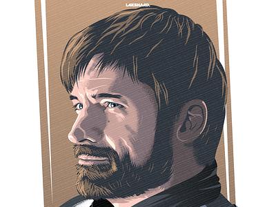 Jaime Lannister kingslayer westeros winterfell lannister game of thrones vector illustration adobe illustrator