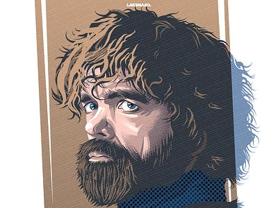 Tyrion Lannister illustration adobe illustrator vector daenerys targaryen hand of the queen imp kingslanding winterfell for the throne game of thrones lannister tyrion lannister