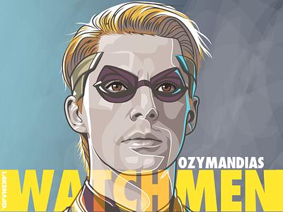Ozymandias zack snyder watchmen dc comics movie illustration vector adobe illustrator