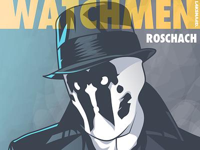 Rorschach movie adobe illustrator vector illustration superman dccomics watchmen