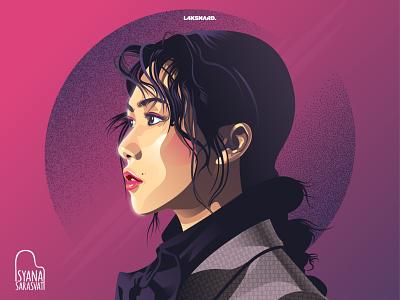 Isyana Sarasvati indonesia songwriter isyana singer adobe illustrator vector illustration