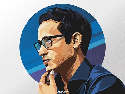 Nadiem Makarim education indonesia minister makarim nadiem design adobe illustrator vector illustration