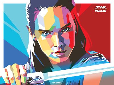 Rey Skywalker darth vader disney lucasfilm rey star wars starwars design adobe illustrator vector illustration