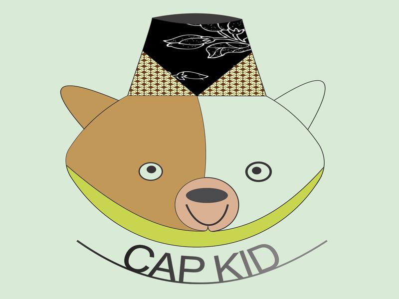 Kid indonesia cap kid typographic logo desain branding typography design