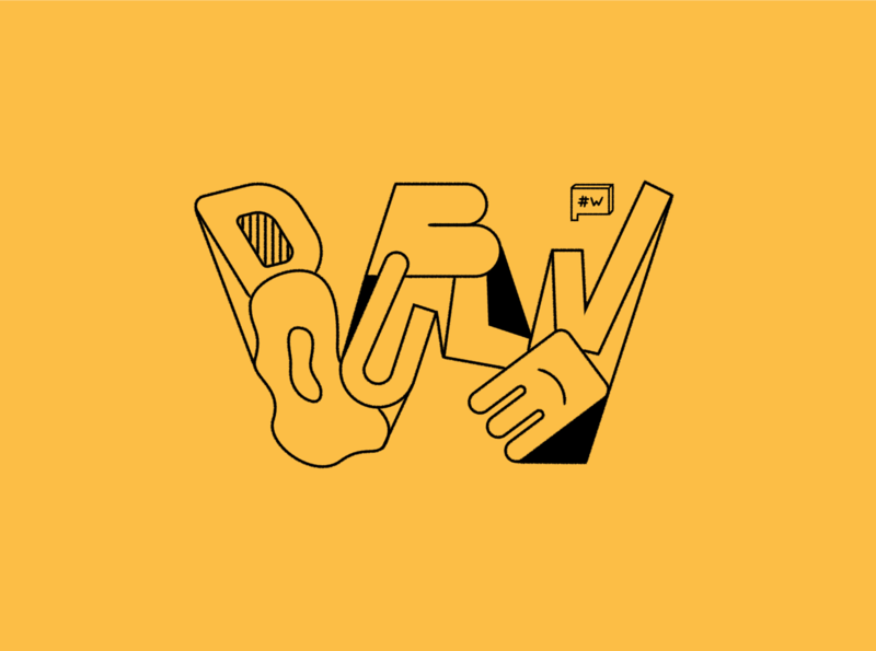W handtype handmade design concept typography type