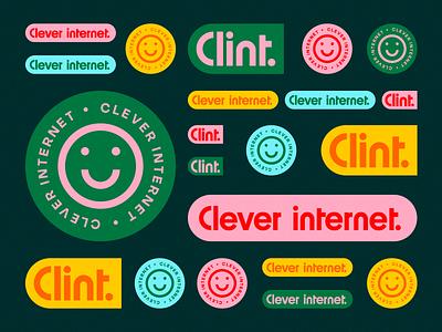 Clint identity new branding brand design identity concept logo typography type