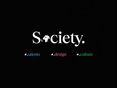 Society. new branding brand logotype design identity concept logo typography type