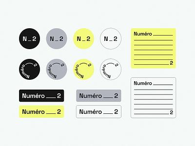 Numéro_2 stickers new branding brand logotype design identity concept logo typography type