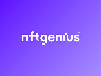 NFT Genius branding logotype design identity concept logo typography type