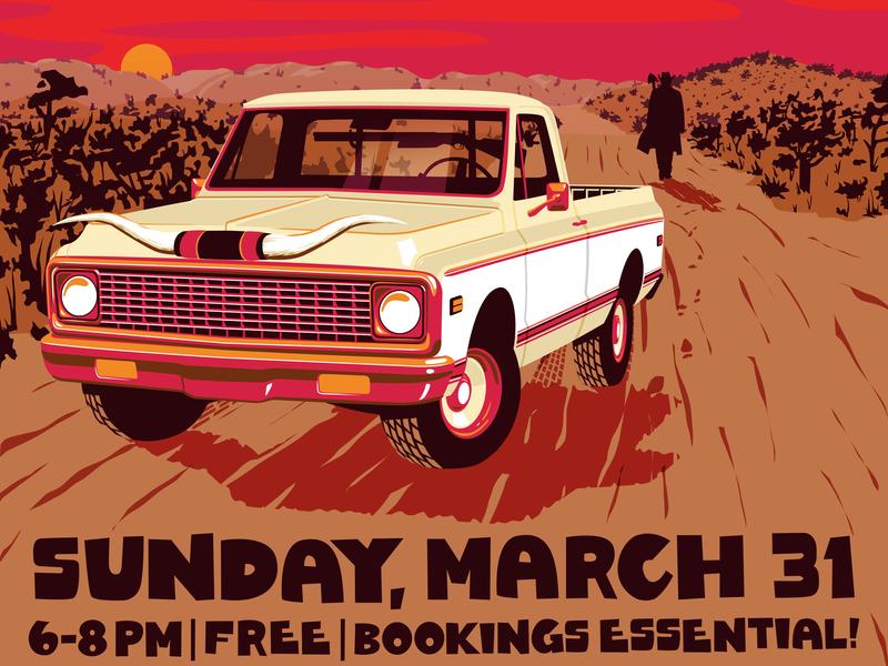 Blake Dantier and the Smokin' Guns March 31 outlaw design poster art illustration digital art